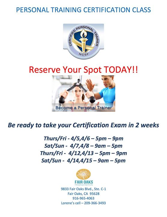 Personal Training Certification Course Ncsf With Lorene Geiger At