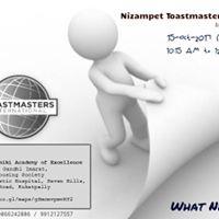 Nizampet Toastmasters Meeting29