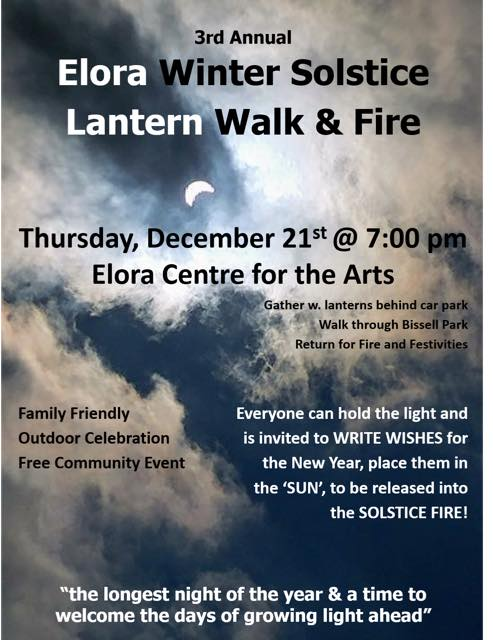 Elora Winter Solstice Lantern Walk and Fire