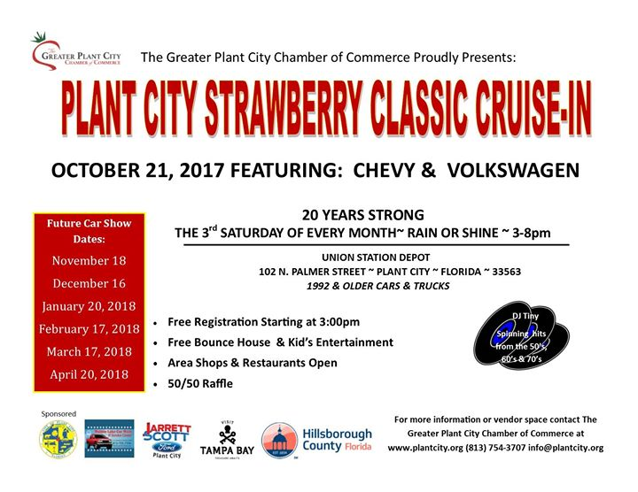 Strawberry Classic CruiseIn October Plant City - Plant city car show 2018