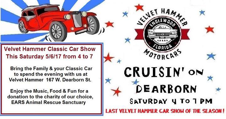 Cruisin On Dearborn Classic Car Show At Velvet Hammer Motorcars - Englewood car show