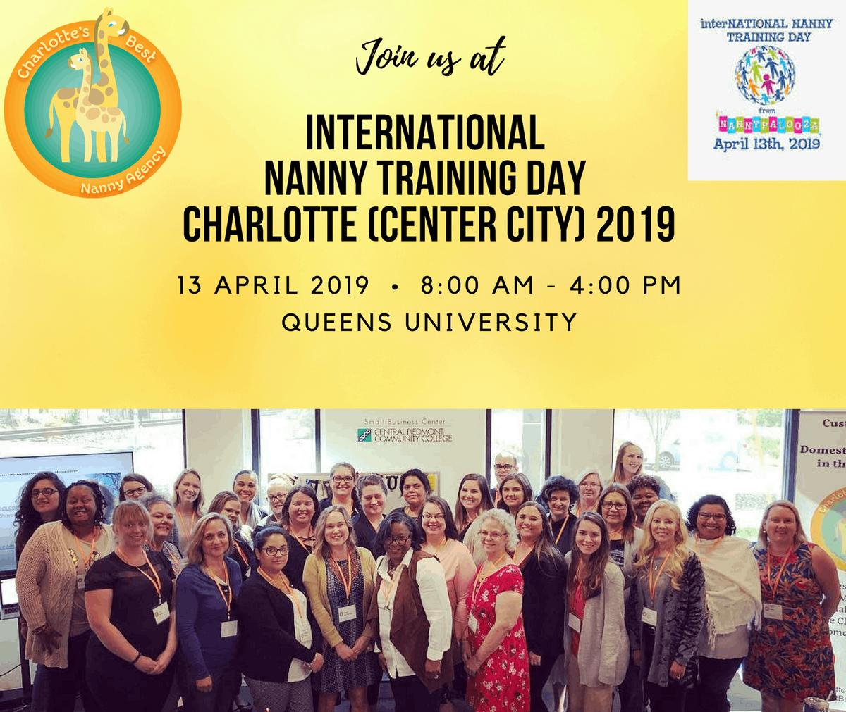 International Nanny Training Day Charlotte (Center City) 2019