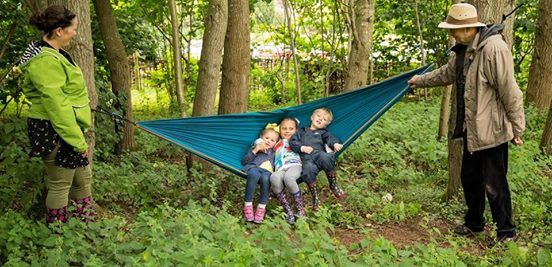 Family Aiming High Wildplay at The Wolseley Centre