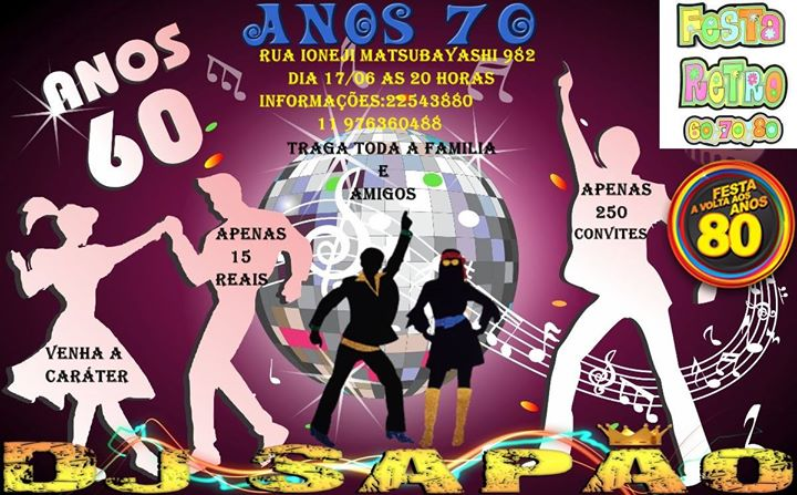 Festa Retro Anos 607080 At Sindicato Dos Securitarios Rua Ionegi
