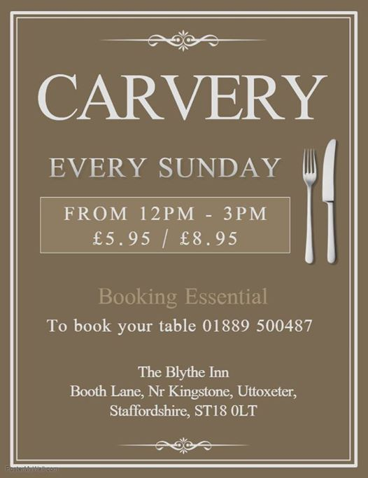 Sunday Carvery 12pm - 3pm