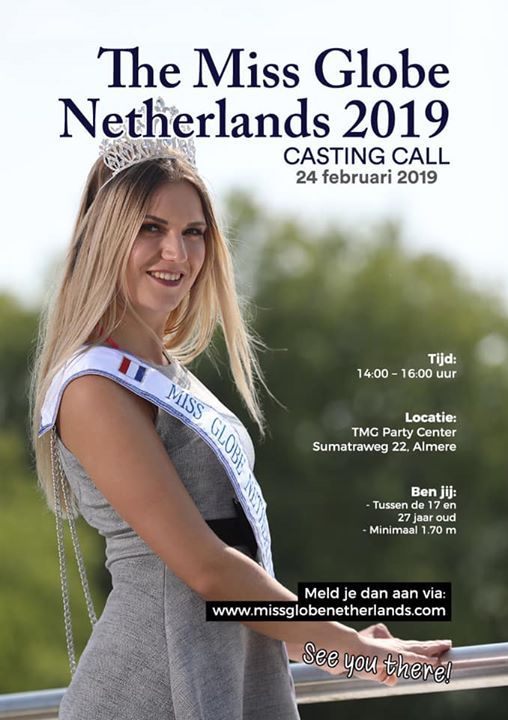 Casting The Miss Globe Netherlands 2019