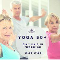 Yoga 50 cu Ioana in fiecare joi de la 16.00 la 17.00