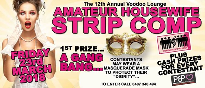 Amatuer House Wife Strip Competition At Voodoo Lounge