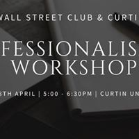 Professionalism 101 Workshop - Collaboration with Curtin Careers