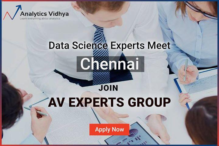 AV Experts Meet Chennai - Advanced ML Problem Solving