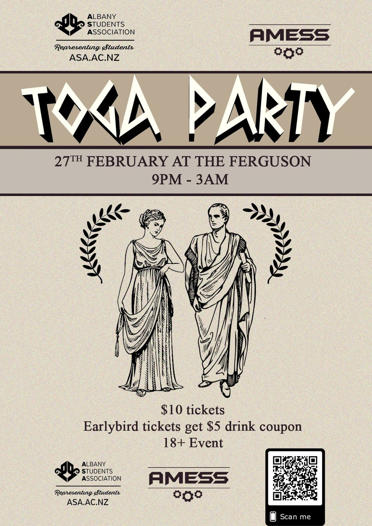 Massey Albany 2019 Toga Party