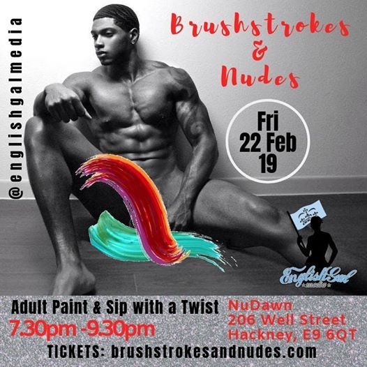 Brushstrokes and Nudes - Paint and Sip with Male Stripper