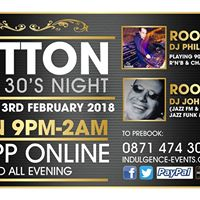Sutton Over 30s Saturday 3rd February 2018  Launch Party