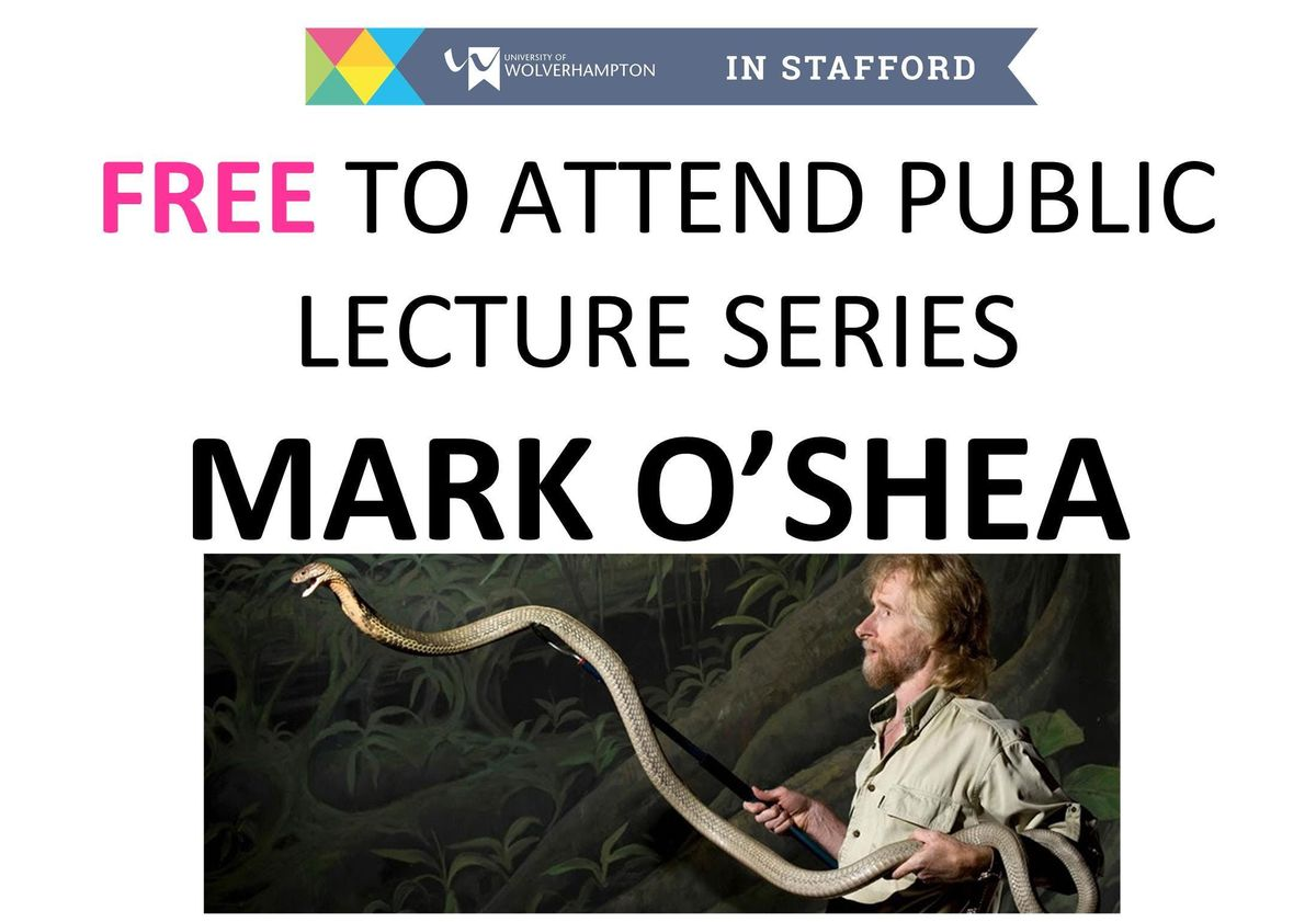 Public Lecture-Mark OShea-Snake Bike Anti-Venom Research Animal Behaviour
