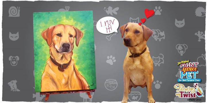 Paint your pet at painting with a twist odessa tx odessa for Painting with a twist arizona