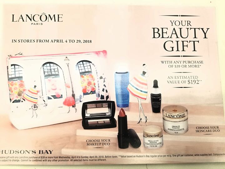ede6c572672 Lancome Spring Gift With Purchase at Hudson's Bay, Victoria