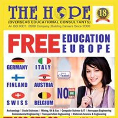 Free Education in Europe:The HOPE Overseas Education, Chennai