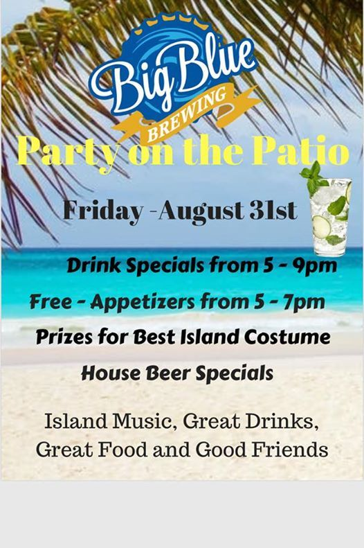 island themed patio party this friday at 5pm florida