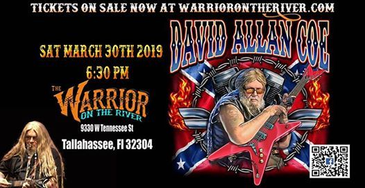 Country Legend David Allan Coe on the River Tallahassee FL