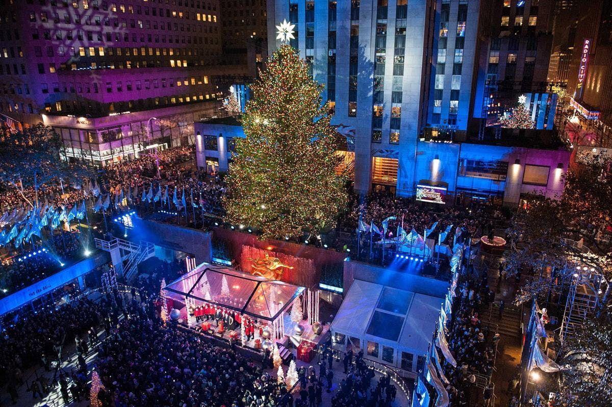 Rockefeller Center Holiday Christmas Tree Lighting 2018 Gala with ...