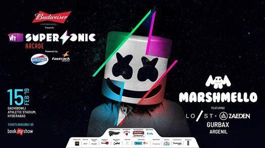 Vh1 Supersonic Arcade ft. Marshmello - Hyderabad