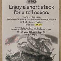 East Texas Region Pancake Breakfast Fundraiser