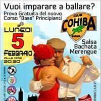 Prova Gratuita Corso Principianti Salsa Bachata e Merengue