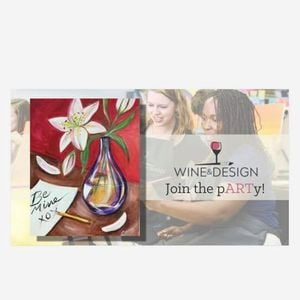 Paint Night With Wine Design Droplets Of Love At Wine Design