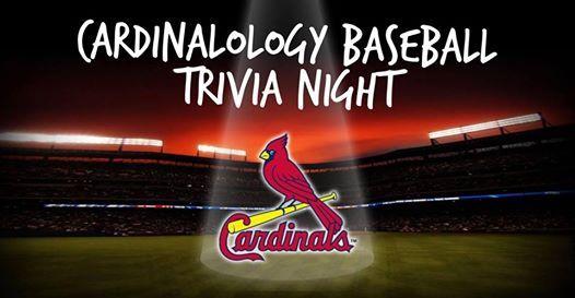 Cardinalology Baseball Trivia Night