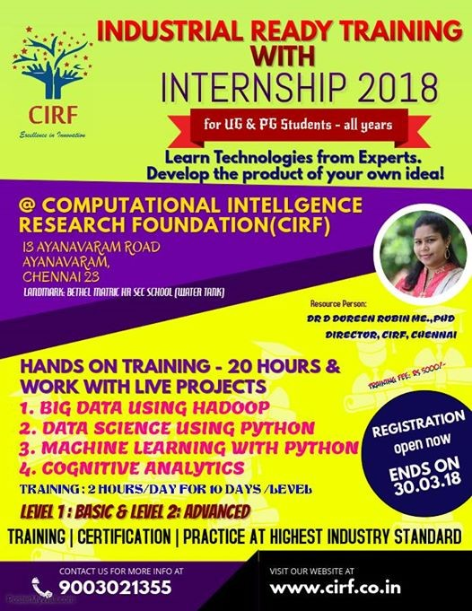 Industry Ready Training with Internship 2018 at