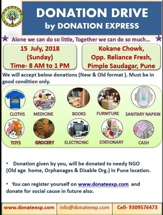 Donation Drive in Pune