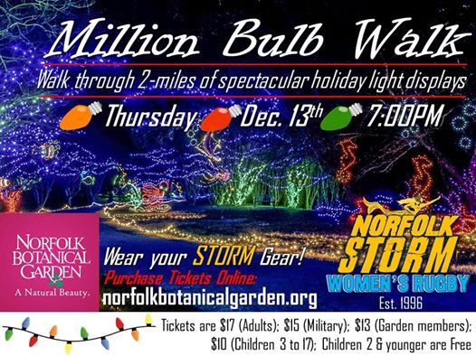 Storming The Million Bulb Walk At Norfolk Botanical Garden Million Bulb Walknorfolk Virginia