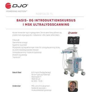 Basis- og introduktionskursus i MSK ultralydsscanning