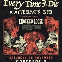 Sold Out - Every Time I Die - Concorde 25.11.17