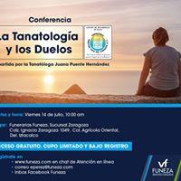 Conferencia gratuita &quotLa Tanatologa y los duelos&quot