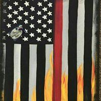 American Flag BYOB Paint Event at Artsy Fartsy