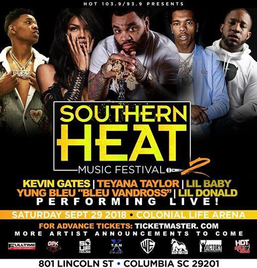 Kevin Gates Lil Baby Yung Bleu Teyana Taylor Live in Concert