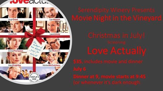 Christmas In July Movie.Movie Night Love Actually Christmas In July At