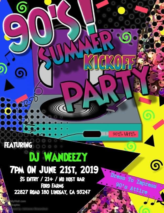90s Summer Kick-Off Party