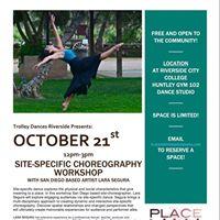 Site-Specific Choreography Workshop with Lara Segura