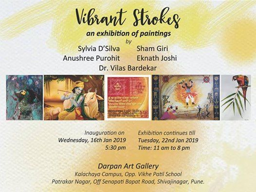 Vibrant Strokes An Exhibition Of Paintings