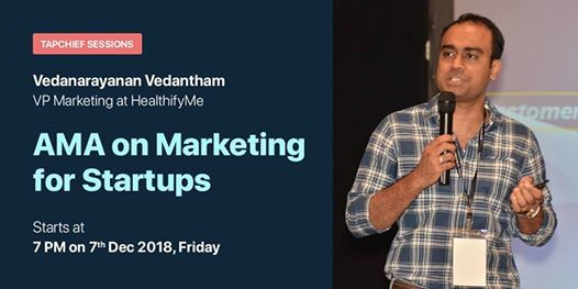 Q&A with Vedanarayanan Vedantham VP Marketing at HealthifyMe