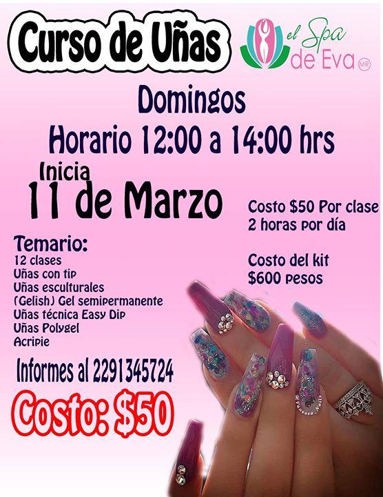 Curso De Uñas Acrílicas At El Spa De Eva Veracruz