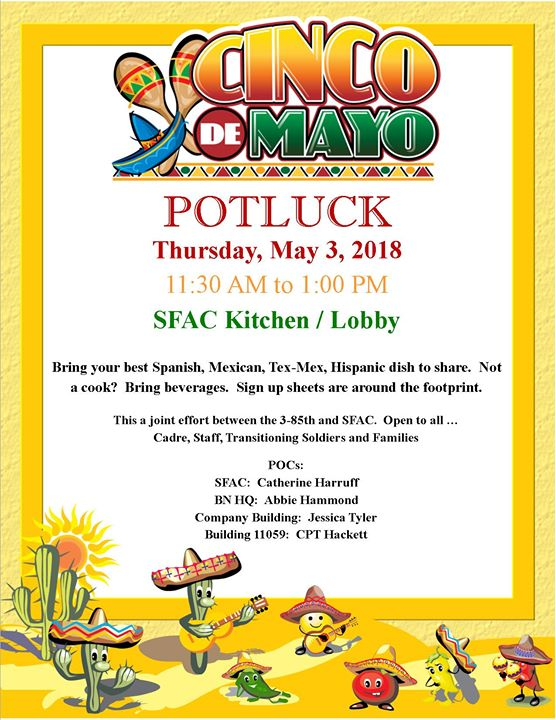Cinco De Mayo Potluck Lunch At Fort Drum Soldier And Family
