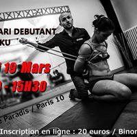 Atelier Shibari dbutant Paris