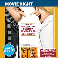 Join us for dinner &amp a movie on Sunday January 28th