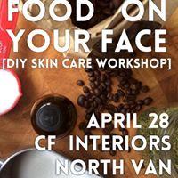 Food On Your Face  DIY Skin Care Workshop