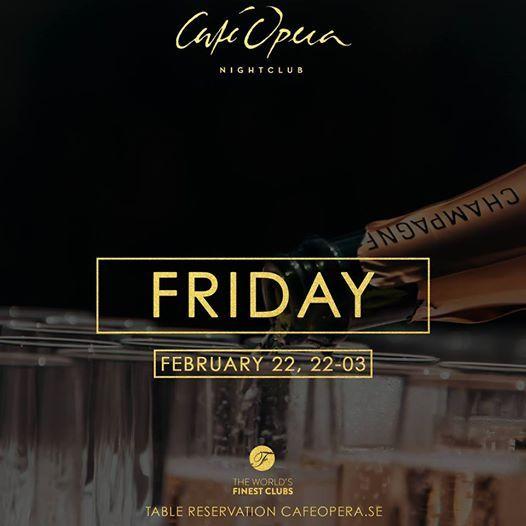 Caf Opera Nightclub  Friday