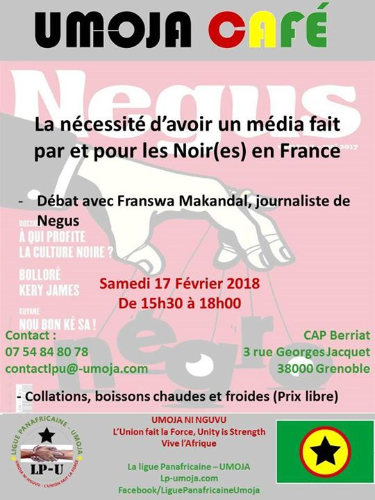 Umoja caf debat avec Franswa Makandal journaliste a Negus