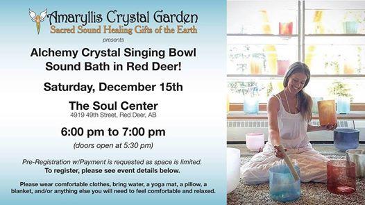 Alchemy Crystal Singing Bowl Sound Bath in Red Deer